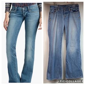 Lucky Brand button fly hippie boot cut flare jeans